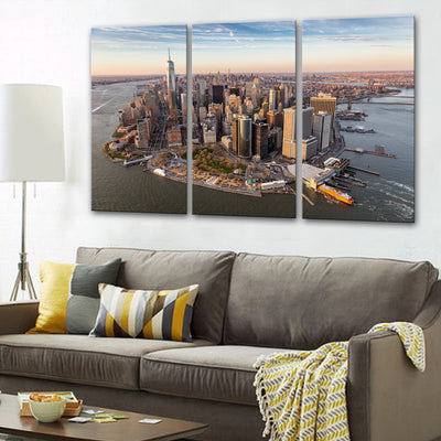 New York Drone view Canvas Set - Canvasist
