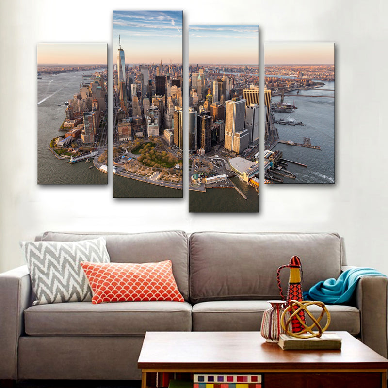 New York Drone view Canvas Set