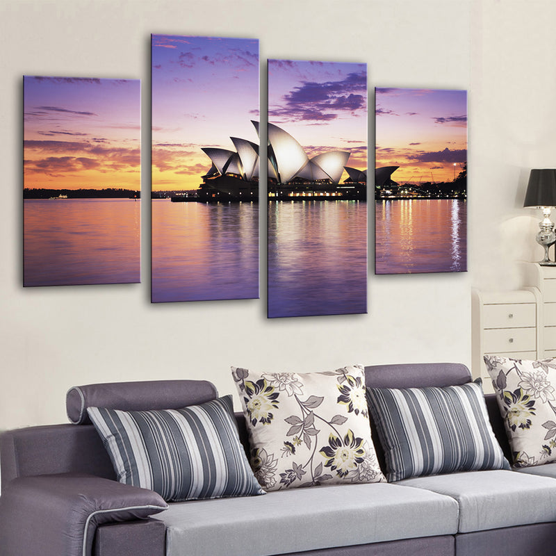 Opera House at Dusk Canvas Set - Canvasist