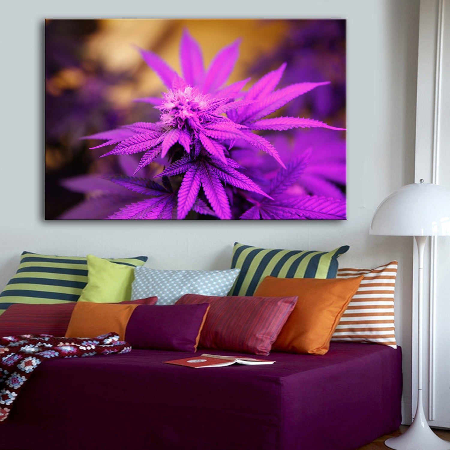 Lilac Passion Cannabaceae Canvas Set - Canvasist