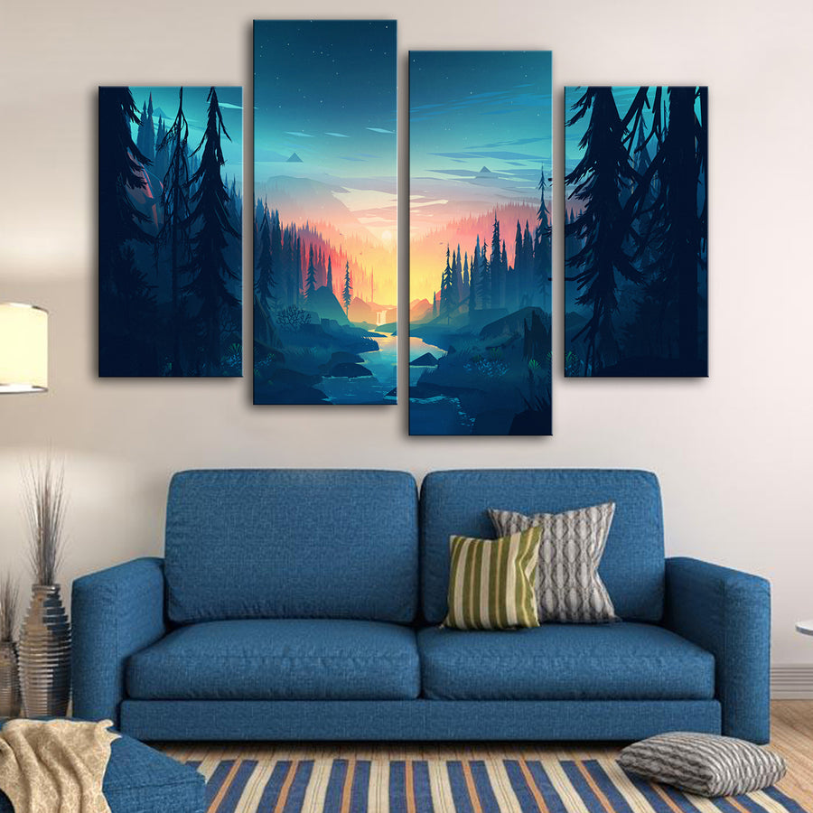 Resurrecting Oak Mist Canvas Set