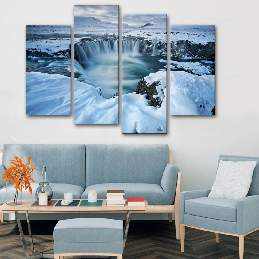 Winter Waterfall Canvas Set