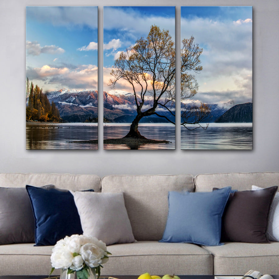 Lake Wanaka New Zealand Canvas Set
