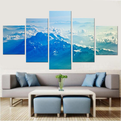 Cloudy Mountains Canvas Set