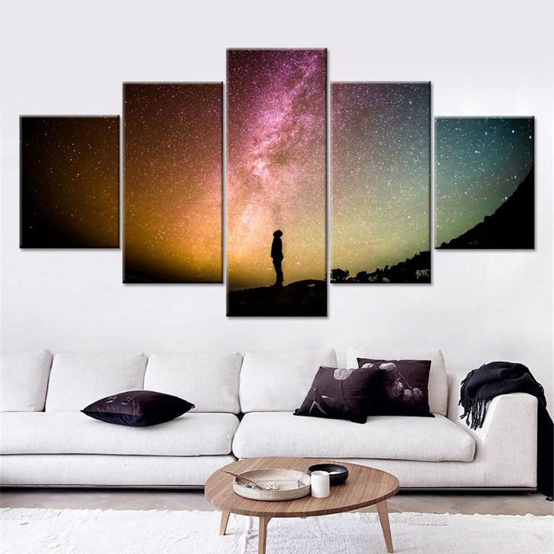 Gazing the Colorful Starry Sky Canvas Set - Canvasist