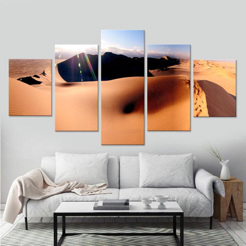 Beautiful Desert in Sunlight Canvas Set