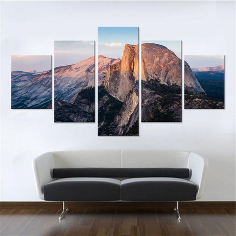 Beautiful Mountain at Sunrise Canvas Set