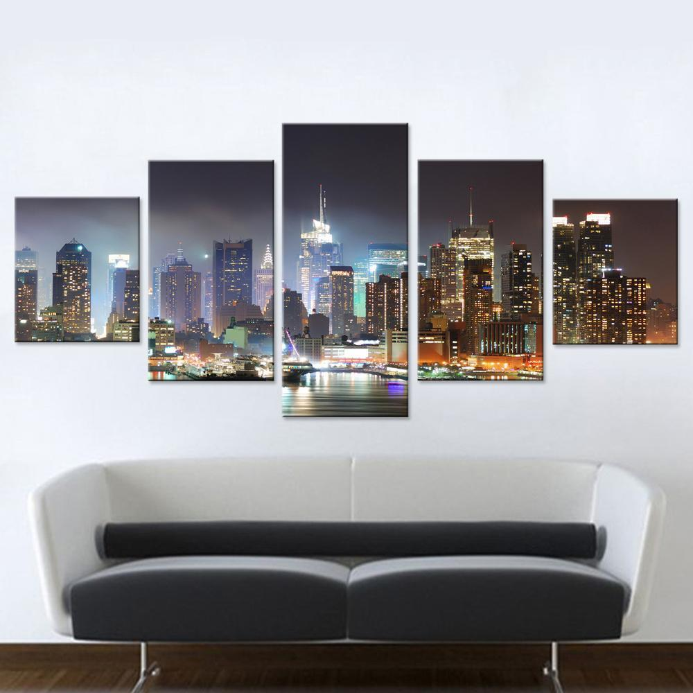 New York Harbour Canvas Set - Canvasist