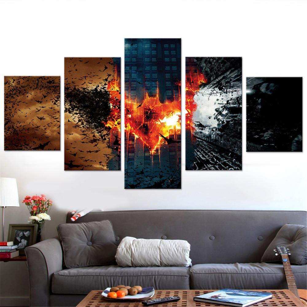 The Dark Knight Trilogy Canvas Set - Canvasist