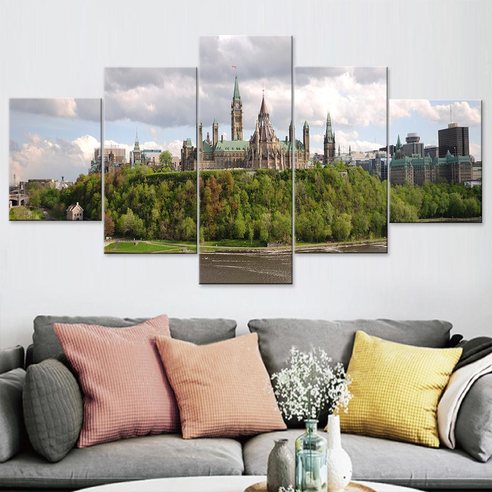 Ottawa Parliament Hill Skyline Canvas Set - Canvasist