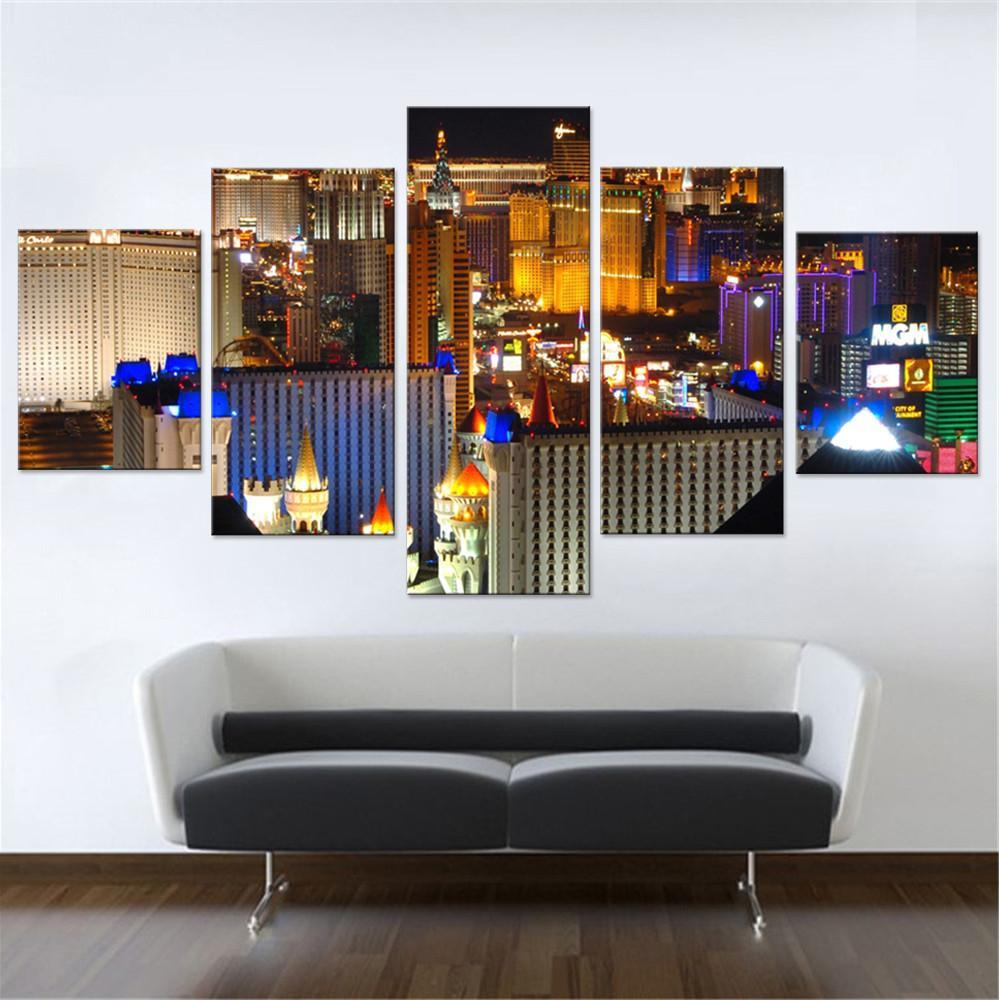 Las Vegas At Night Canvas Set - Canvasist