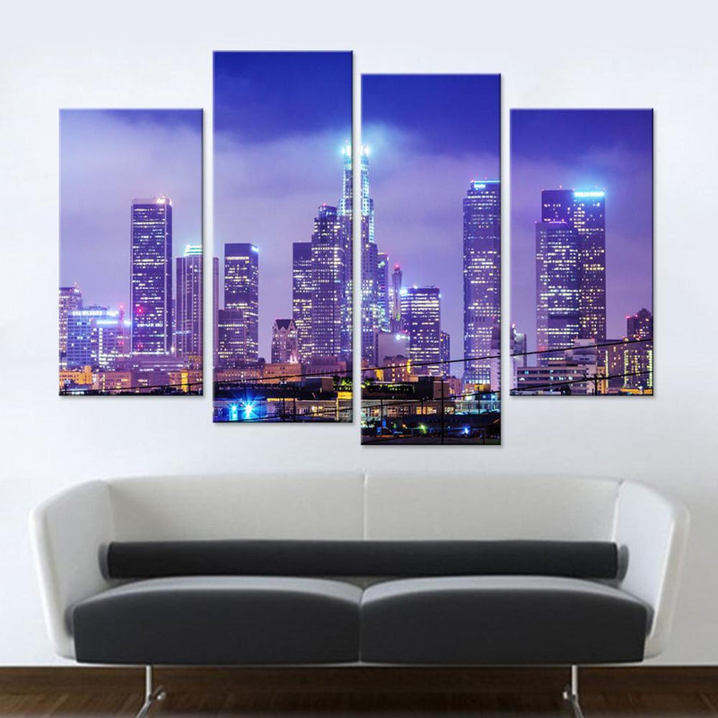 Los Angeles Skyscrapers Canvas Set - Canvasist