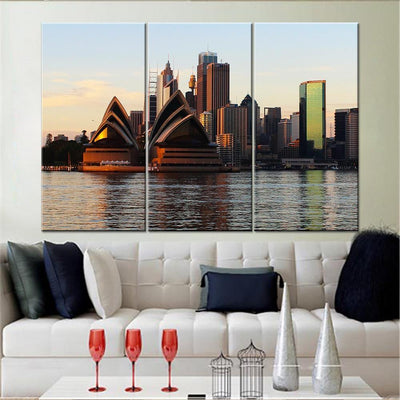 Sydney Harbour View Canvas Set