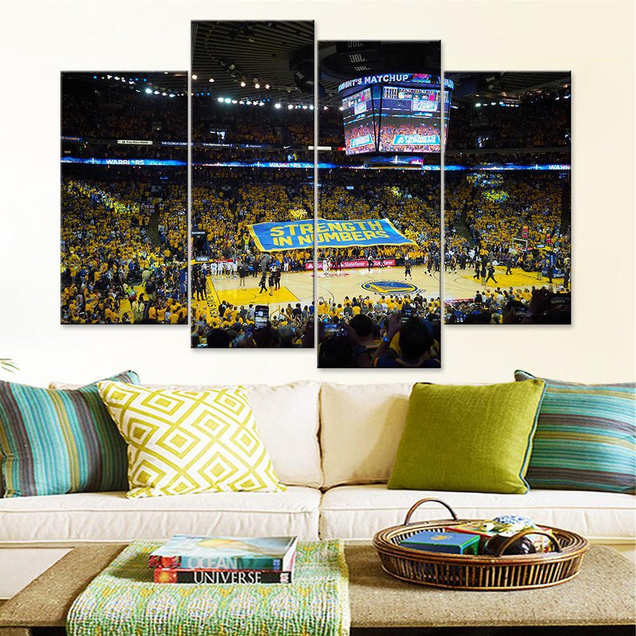 Golden State Warriors Stadium Canvas Set