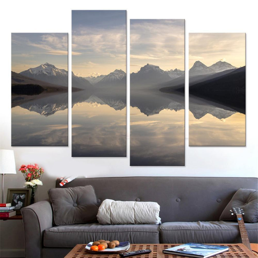 Lake McDonald at Sunset Canvas Set