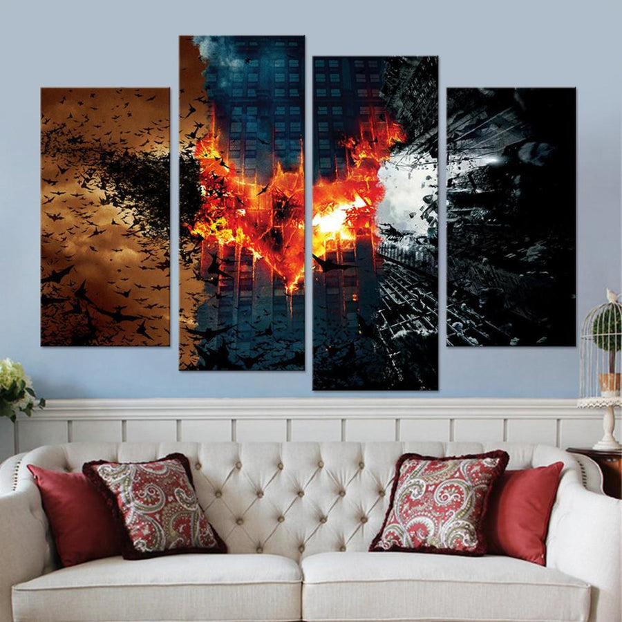 The Dark Knight Trilogy Canvas Set
