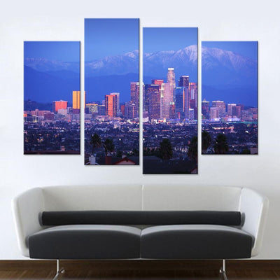 Los Angeles City Skyline Canvas Set - Canvasist