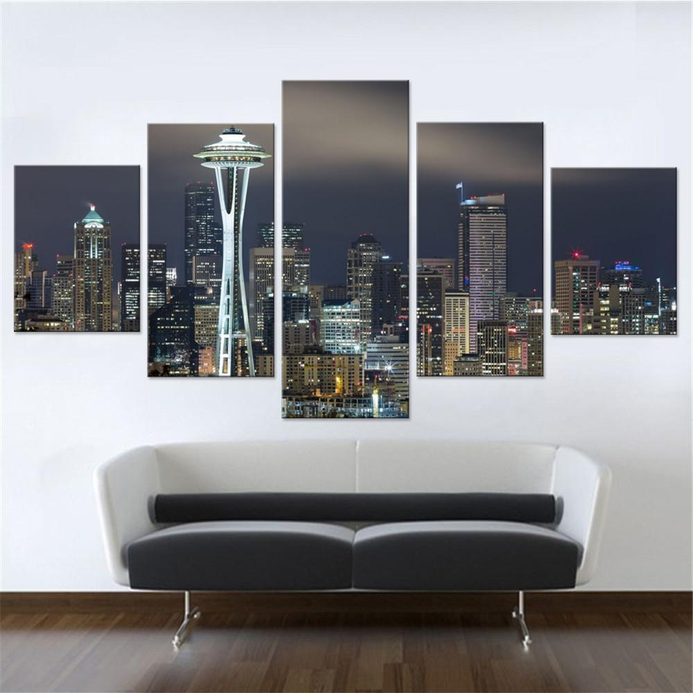 Seattle Space Needle Canvas Set - Canvasist