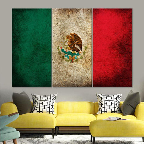 Mexico Flag Canvas Set - Canvasist