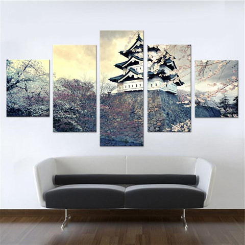 Japanese Spring Castle Canvas Set
