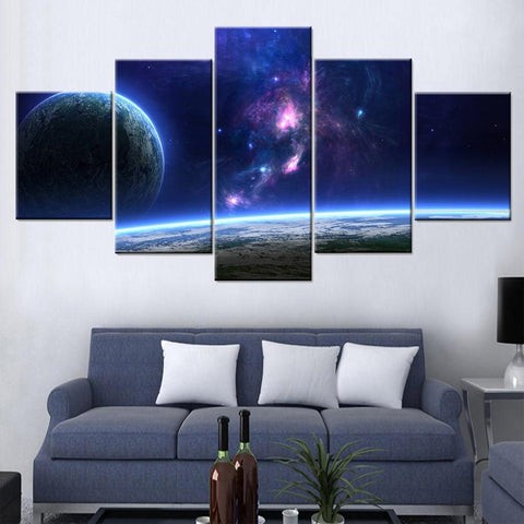 Earth from Outer Space Canvas Set