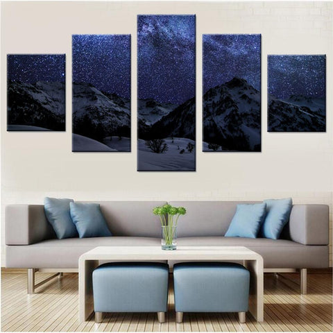 Stars in Winter Night Canvas Set