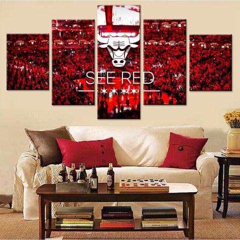 Chicago Bulls Logo Canvas Set