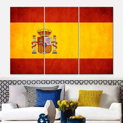 Spain Flag Canvas Set - Canvasist