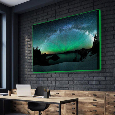 Clean Aurora Sky LED Canvas Set - Canvasist