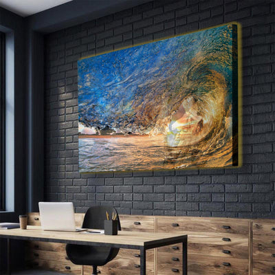 Sunset Waves LED Canvas Set