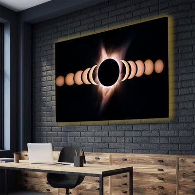 Lunar Cycle LED Canvas Set - Canvasist