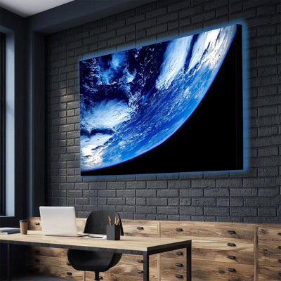 Earth From Space Close Up LED Canvas Set - Canvasist