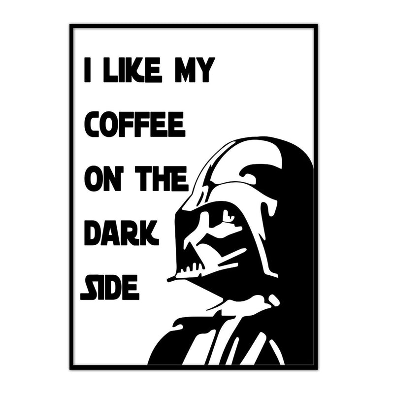 Star wars// Coffee On The Dark Side - Canvasist