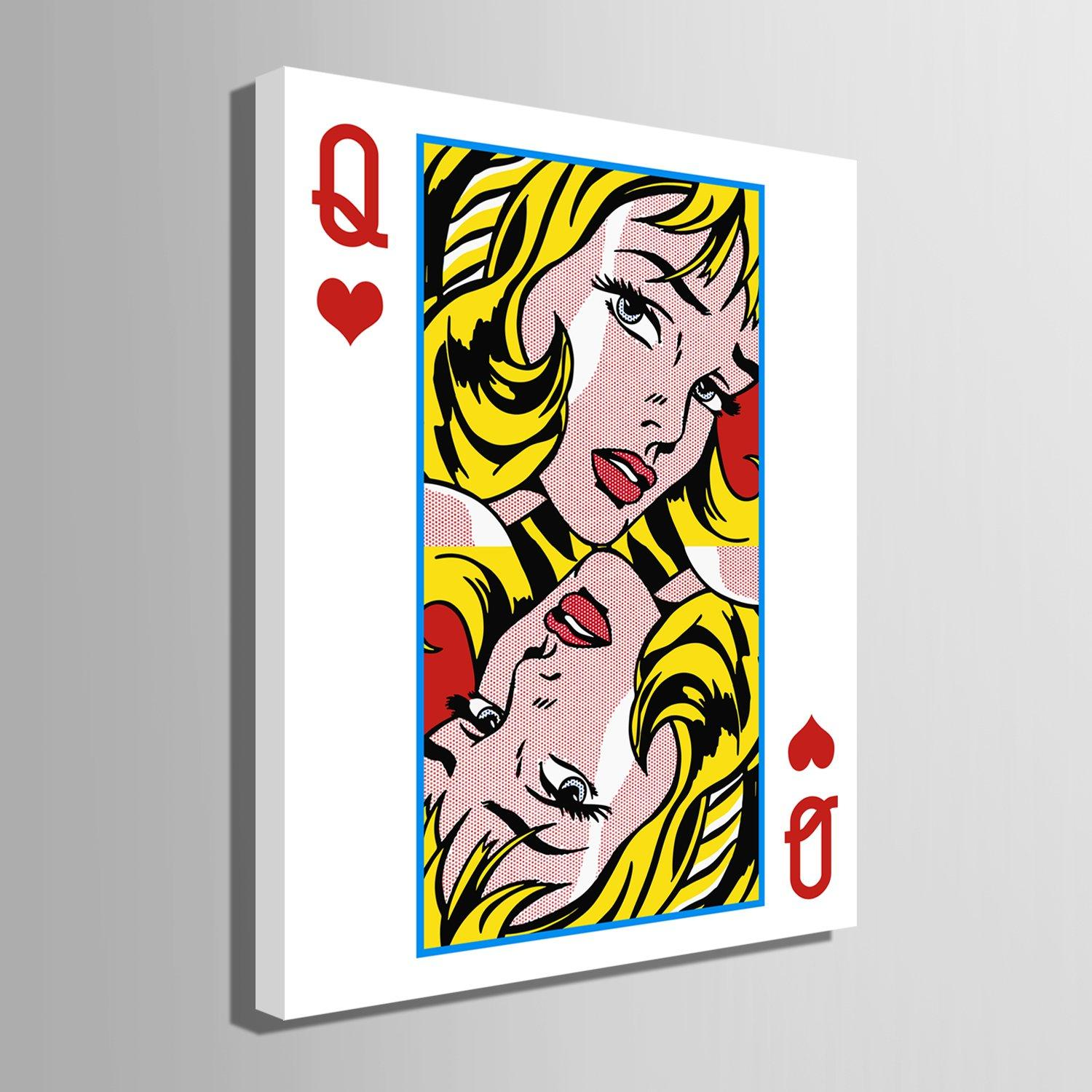 Queen Of Hearts - Canvasist