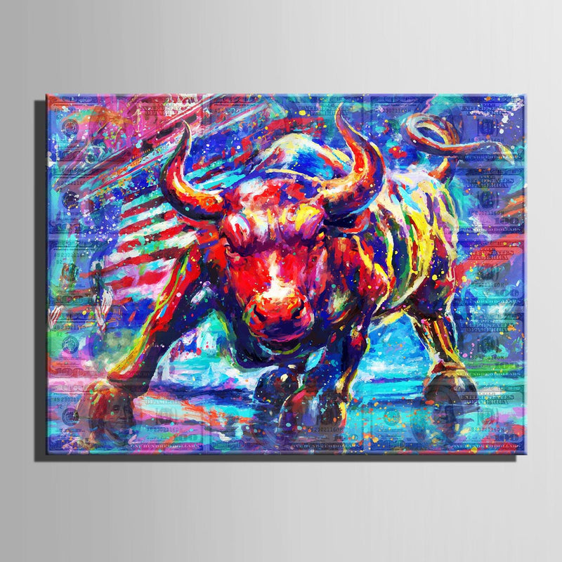 Wall Street Bull - Canvasist