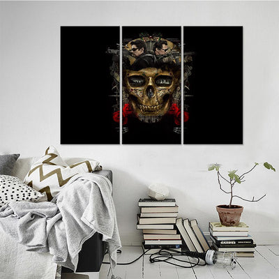 Spooky Skull Canvas Set