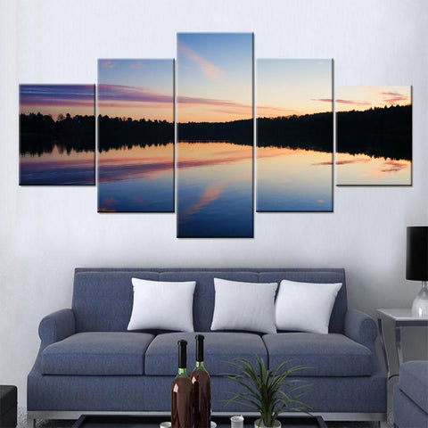 Lake Across Valley Canvas Set