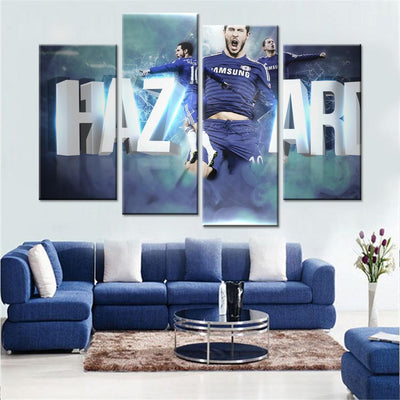 Chelsea PLayer Hazard Logo Canvas Set - Canvasist