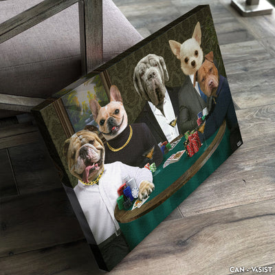 Poker Table Pet Canvas - Canvasist