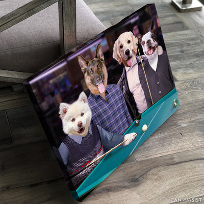 Pool Table Pet Canvas - Canvasist
