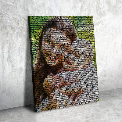 Custom photo and song Lyric canvas - Canvasist