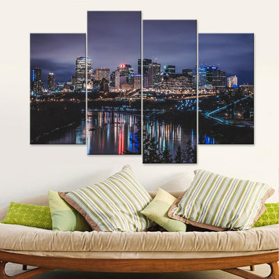 Edmonton City Skyscrapers Canvas Set - Canvasist