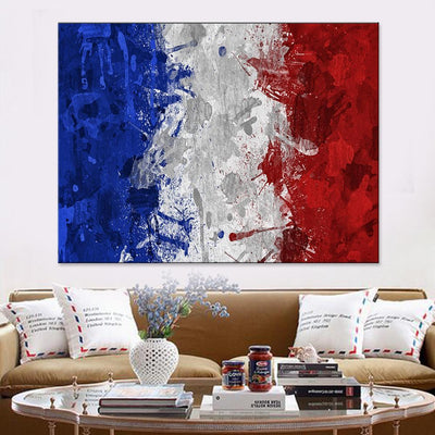 Vintage France Flag Canvas Set