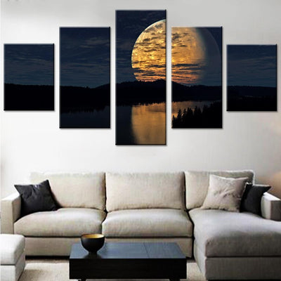 Night Sky Moon Canvas Set - Canvasist