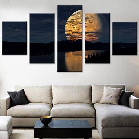 Night Sky Moon Canvas Set