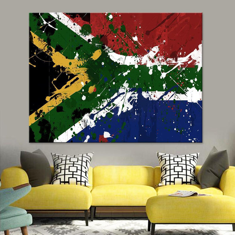 South Africa Flag Canvas Set