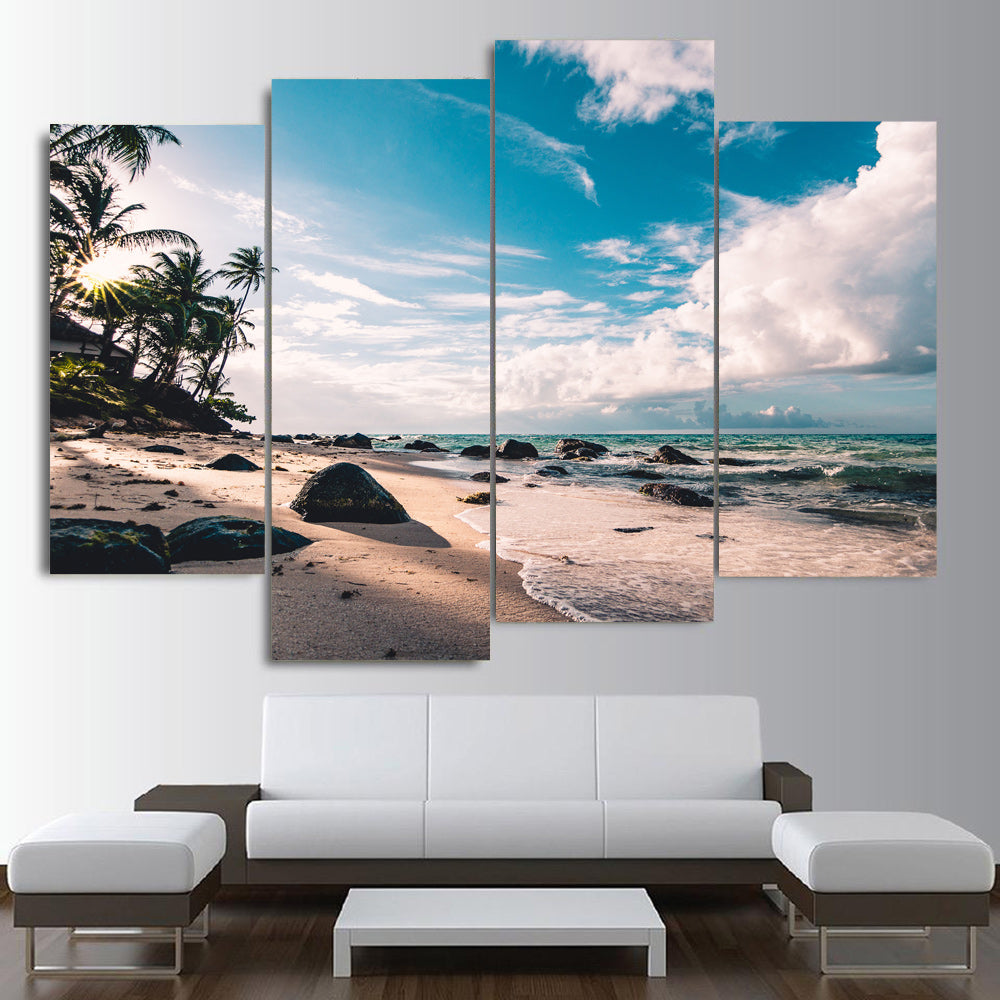 Serene Beach view Canvas Set - Canvasist