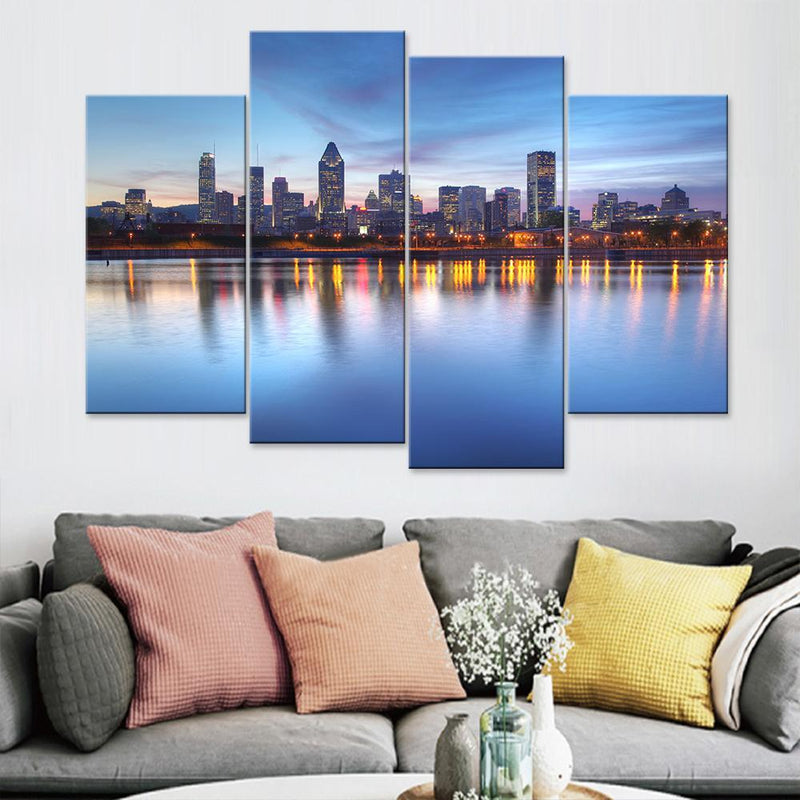 Montreal City Skyline Canvas Set - Canvasist