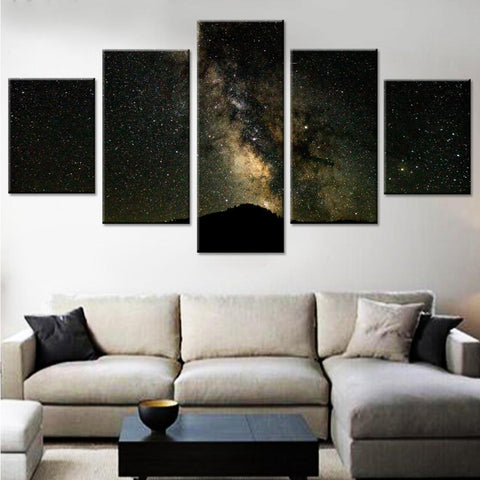 Glittering Stars in the Dark Canvas Set
