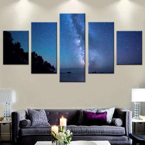 Milky Way over the Shore Canvas Set